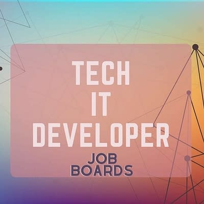 Remote job boards for IT tech and developers
