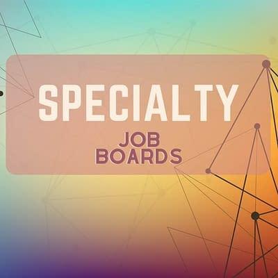 Specialty remote work job boards
