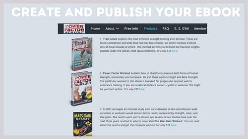 Create and publish your ebook
