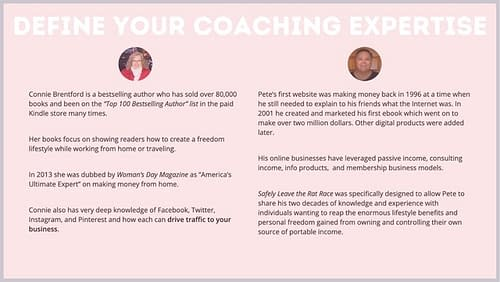 Your coaching expertise