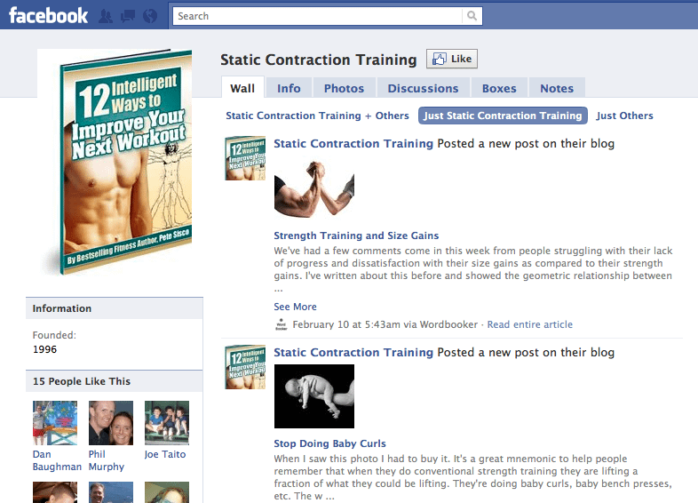 Static Contraction Training on Facebook