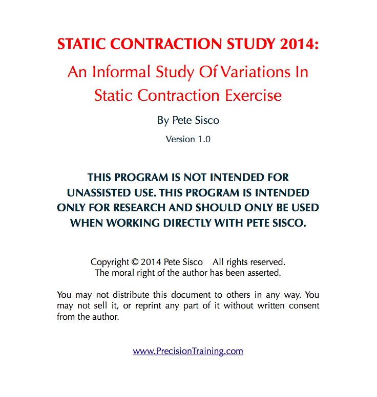 Static Contraction Study